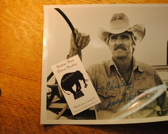 DENNIS WEAVER  Autograph origional signed photograph vintage Hollywood memrobellia  graphics NOT a reproduction cool and classic hollywood