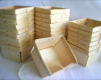 Wood Berry Baskets