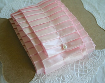 2Y SOFT PINK Pleated Ribbon, Pleated Satin