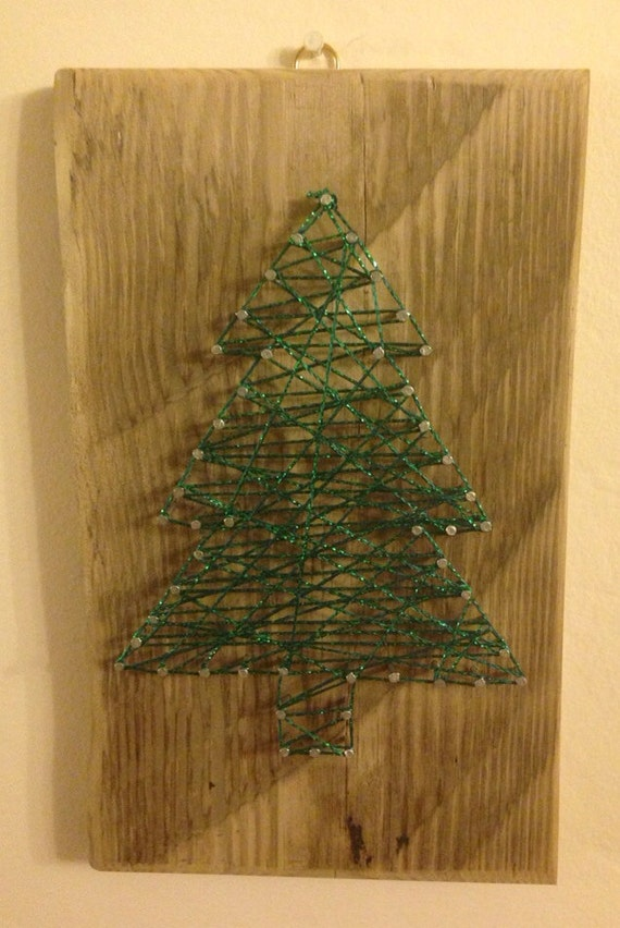 Items similar to driftwood christmas tree hanging on etsy for Hanging driftwood christmas tree