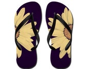 Flip Flops Daisy Summertime Sandles Slippers Aloha Thongs - flower, daisy, Photography RDelean