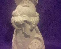 "Gare Guardian Santa 10"" ready to paint ceramic"