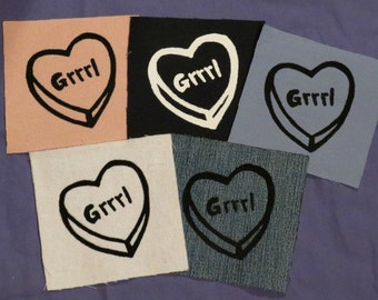 Grrrl Heart Patch