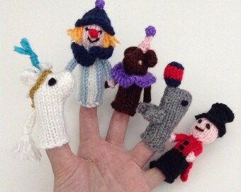 Circus Puppets - Finger Puppets - Kids Toy - Handmade Puppets