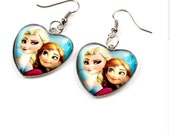 Frozen Elsa and Anna Earrings Ready to Ship Children Girls Jewelry