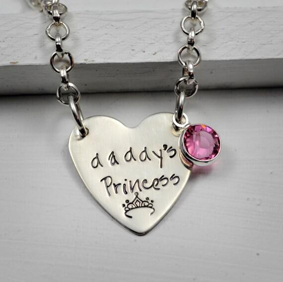 Daddy's Princess Little Girl's Necklace Sterling by SecretSphynx