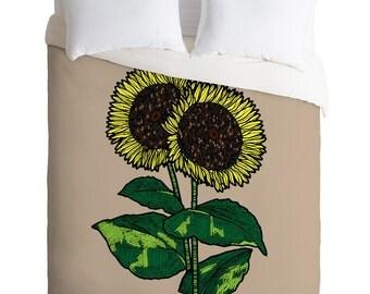 Sunflowers Duvet Cover / Twin, King Queen Size Duvet / Sunflower Duvet / Sunflower Blanket / Summer Duvet / Kids Room Blanket / Kids Bedding