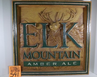 1990's Elk Mountain Ale Large Pub Sign