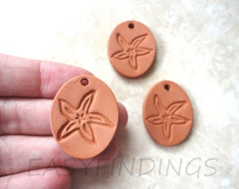 Ceramic Starfish Diffuser Pendant Natural Eco Friendly Jewelry Aromatherapy Essential Oils Terracotta Ceramic Unglazed Clay Pottery Necklace