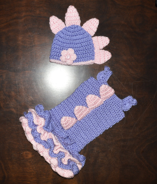 Crochet Baby Dinosaur Beanie Pattern : Crochet Dinosaur Dragon Baby Beanie Hat & by CubbyCreations