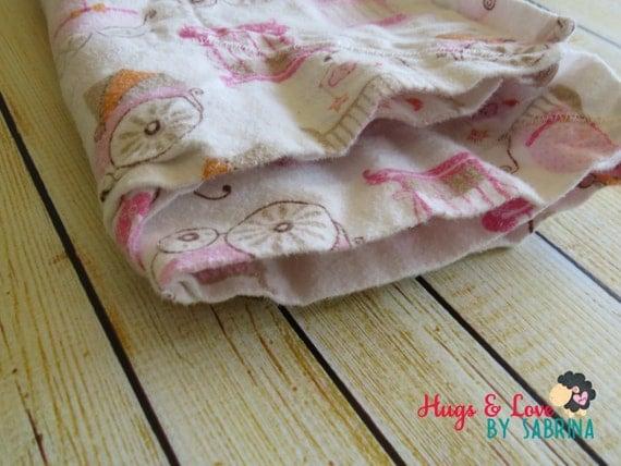 "Little Girl Receiving Blanket - flannel 25""x26"""