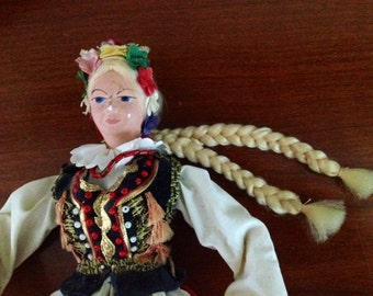 Scandinavian Costume Doll Long Blonde Braids