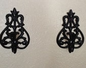 Black Ornate Wall Sconces