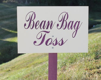 Bean Bag Toss Sign//U Choose Colors/Great Shower Gift