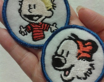 Calvin and Hobbes Sew On Patches