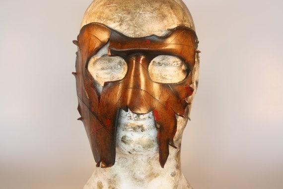 steampunk leather mask spartan by steampunkleatherwork steampunk buy now online
