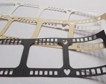 Scrapbooking Filmstrip Die Cuts & Smash book add-ons - set of 3 scrapbook embellishments
