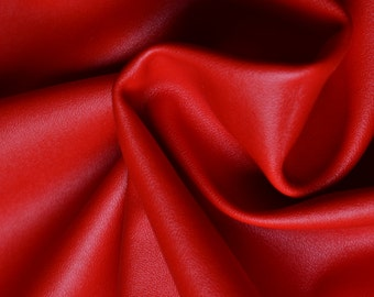 27 x 18 faux leather fabricsemi pu leather in for Red leather fabric