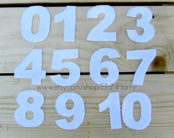 Felt Numbers Set (0 - 10) for Felt Board