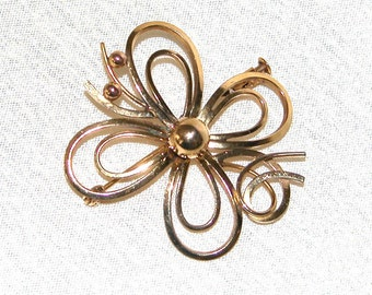 Antique French gold Filled Brooch, hand crafted....