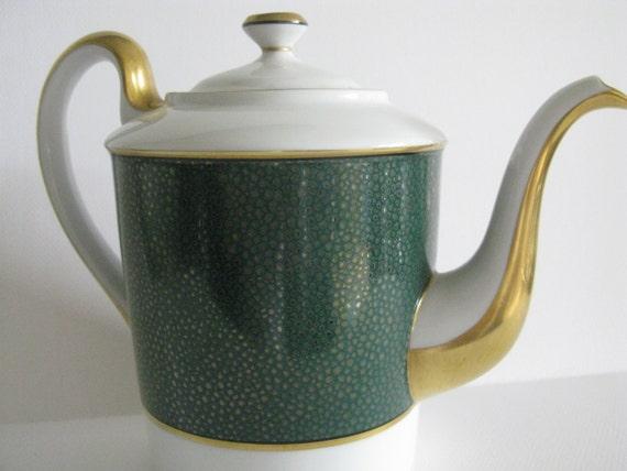 Fitz Amp Floyd Shagreen Teapot Stunning Vintage By Kanuimagine