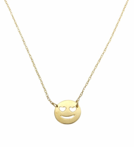 Emoji Necklace Heart Eyes Necklace