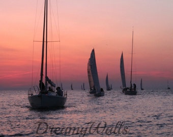 Sailboat Art, Sailboat decor, sailboat photography, photography, boat art, sunset photo