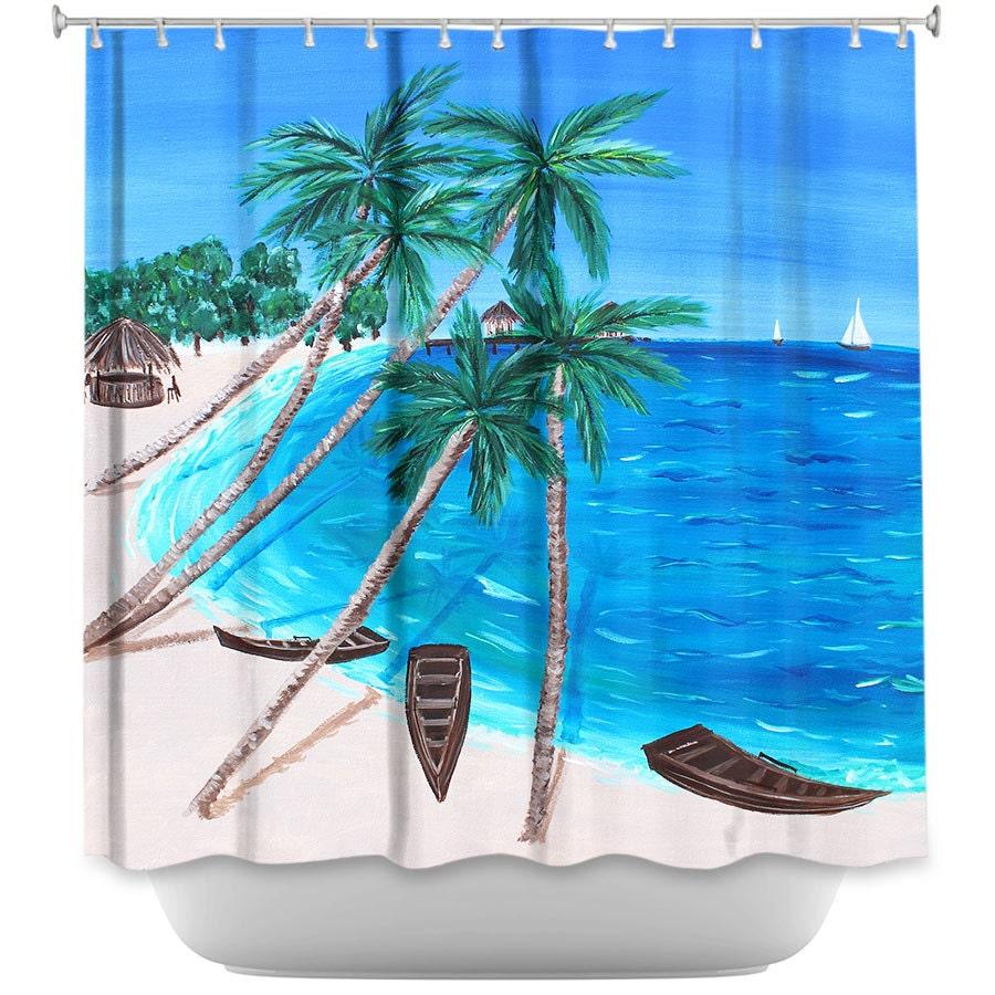 Shower Curtain Tropical Shower Curtain Ocean Decor For