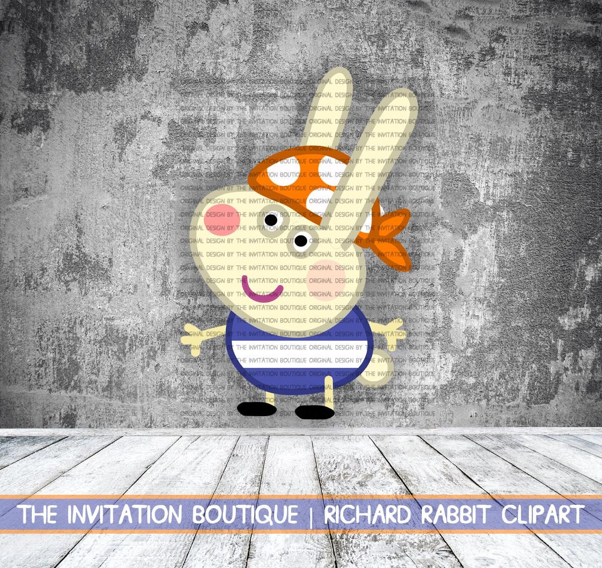 richard rabbit pirate peppa pig inspired clipart