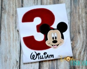 Mickey Mouse birthday shirt - number can be changed