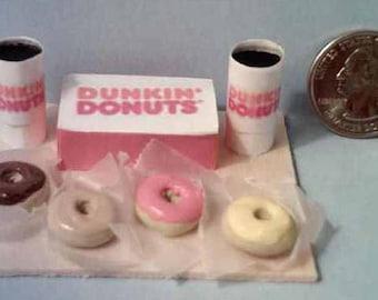Barbie & American Girl Sized Dunkin Donuts Food Display Board