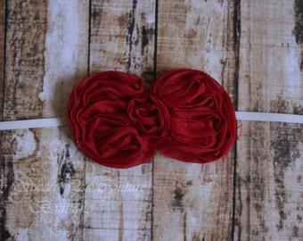 Red Mini Bow Headband, Baby Headbands, Newborn Headbands, Infant Headbands, Toddler Headbands, Girls Headbands