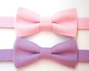 Pink bow tie for men, men's purple bow tie, boys bow tie, toddler bow tie, father and son bow tie, boys pink bow tie, ring bearer bow tie