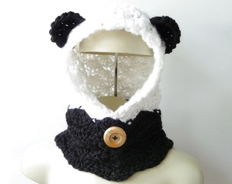 Crochet Pattern Bear Cowl Hooded Cowl Pattern Hooded Scarf Pattern Crochet Hood Crochet Cowl Pattern Hooded Pattern Girls Womens Crochet PDF