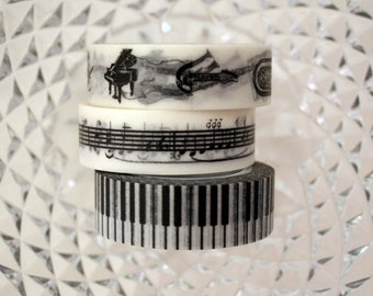 Music  Washi Tape Set of 3