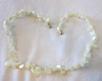 Vintage Mother of Pearl Choker Necklace Beautiful