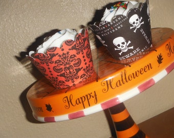 Halloween Cupcake Wrappers. Set of 12 Holiday Party Spooky Fun