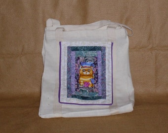 OOAK totebag with quilted pocket(3)