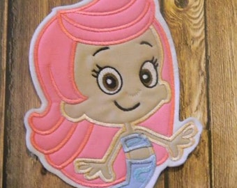 Bubble Guppies Molly Embroidered Applique ~ Iron On No Sew Patch ~ DIY