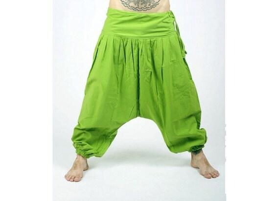 Plain Harem Pants Apple Green Aladdin Pants Harem