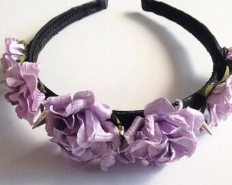 Lilac Rose Spike Headband
