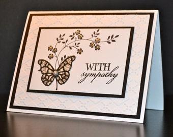 Handmade Greeting Card, Sympathy Card