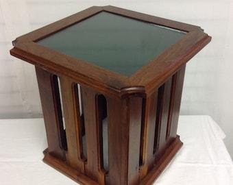 Mid Century Modern Slate Top Side Table