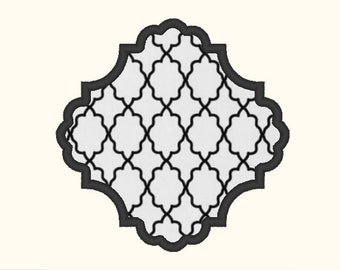 Victorian Applique Embroidery Machine Design