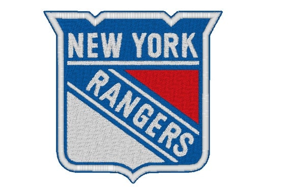 New york rangers embroidery machine design