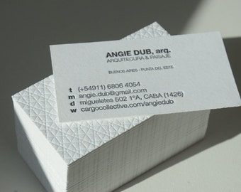 Letterpress Business Cards - Crane Lettra Paper 220 lbs - 2 colors