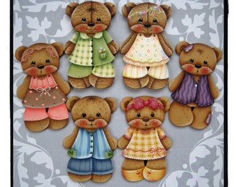 Teddy Bear Collection Painting E-Pattern