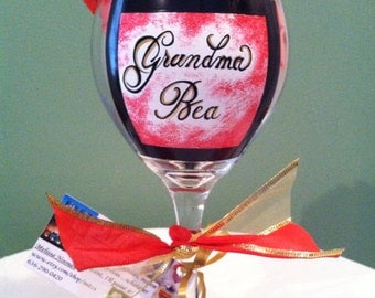 Grandmas wine glass