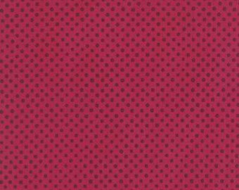 "2 yards, 22""    Avant Garden, Berry Dots, by Momo for Moda  16127 17"