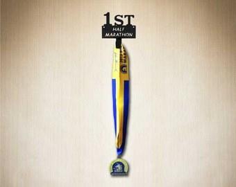Medal Hanger First Half Marathon, Running Medal holder, Medal Display, Proudly display that  special first half marathon medal !